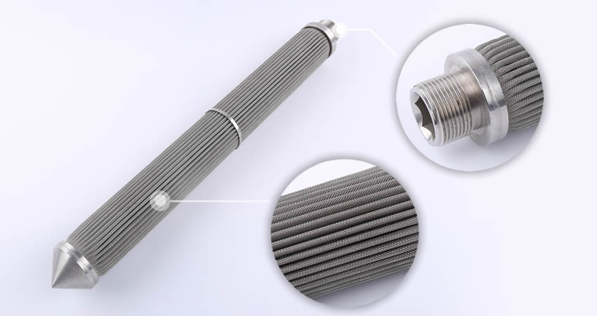 SS Pleated Wire Mesh Filter Cartridge