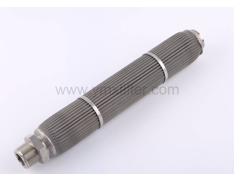 Pleated Sintered Filter With Tightening Rings