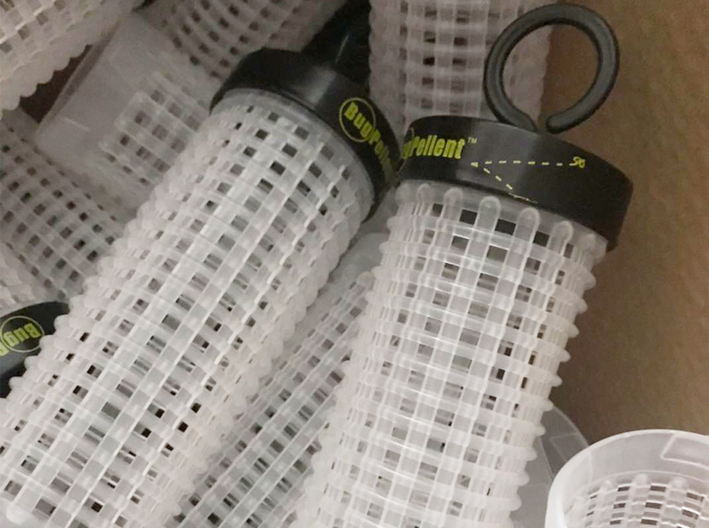 Plastic Filter Cage For Bug Repellent