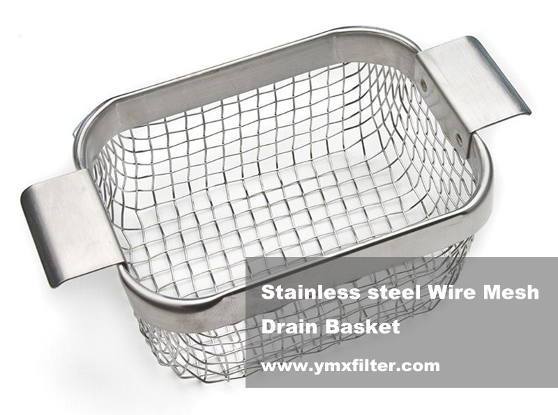 Stainless Steel Wire Mesh Drain Basket